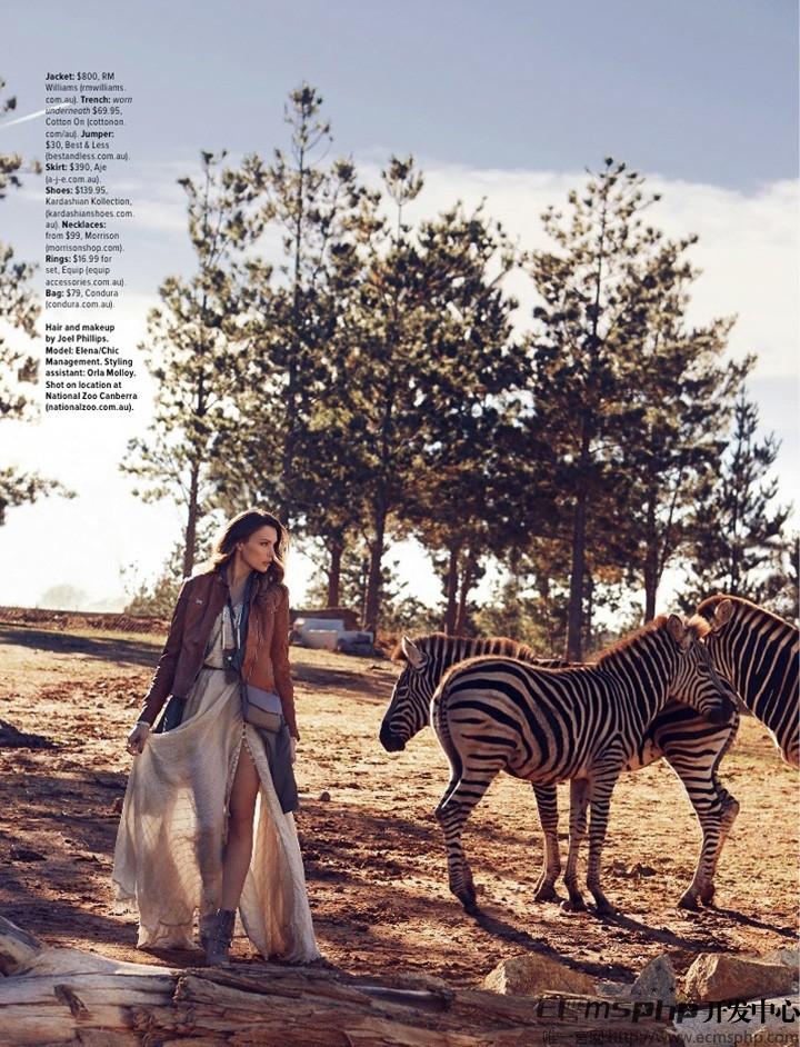 帝国cms图集插件:Elena Muller《Cosmopolitan》杂志封面写真大片曝光(7)