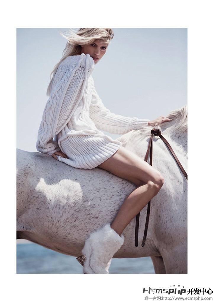 帝国cms图集插件:超模Devon登《Vogue》杂志 拍摄沙滩时尚大片(7)