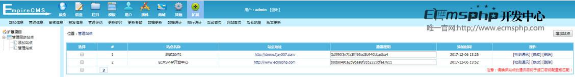 帝国cms一键发布信息插件,帝国cms站群信息同步推送站群插件